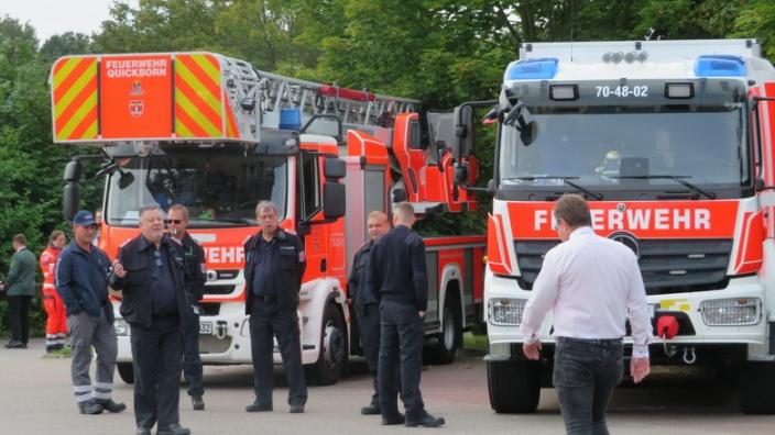 Die Feuerwehr ist dabei